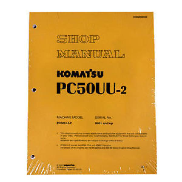 Komatsu Service PC50UU-2 Excavator Shop Repair Manual #1 image