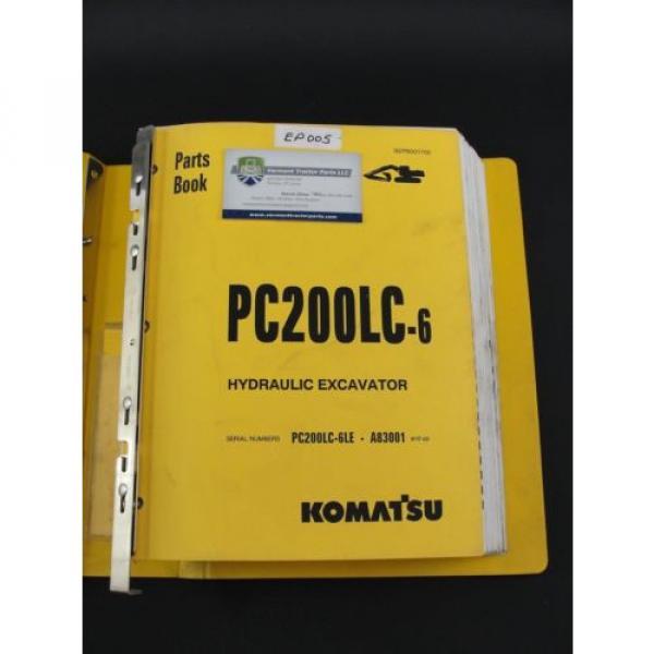 Komatsu PC200LC-6 excavator parts book manual BEPB001700 #2 image