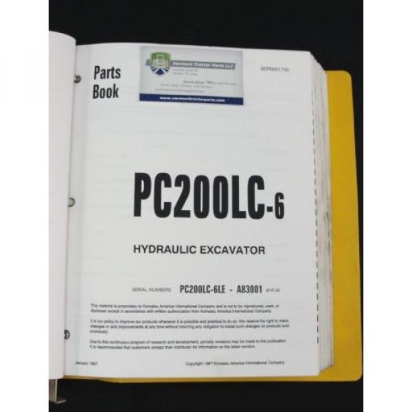 Komatsu PC200LC-6 excavator parts book manual BEPB001700 #3 image