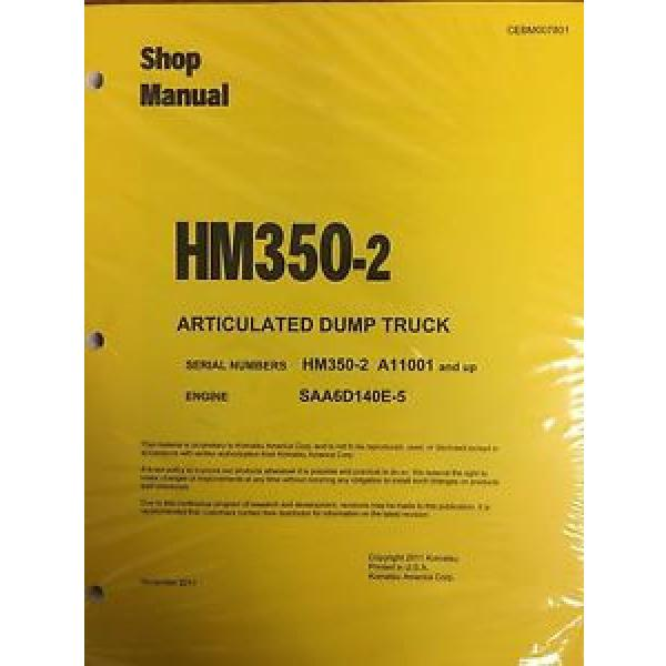 Komatsu HM350-2 Shop Service Manual Articulated Dump Truck #1 image