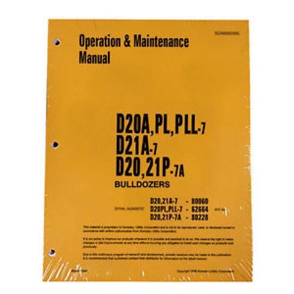 Komatsu D20A,PL,PLL Dozer Operation & Maintenance Manual #1 image
