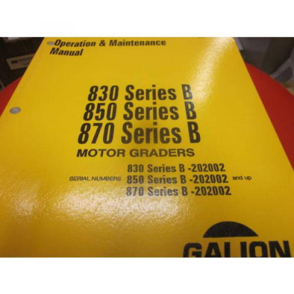 Komatsu Galion 830B 850B 870B Motor Graders Operation & Maintenance Manual #1 image