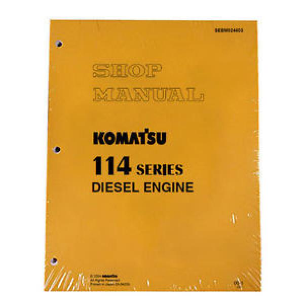 Komatsu 114 Series Diesel Engine Service Workshop Printed Manual #1 image