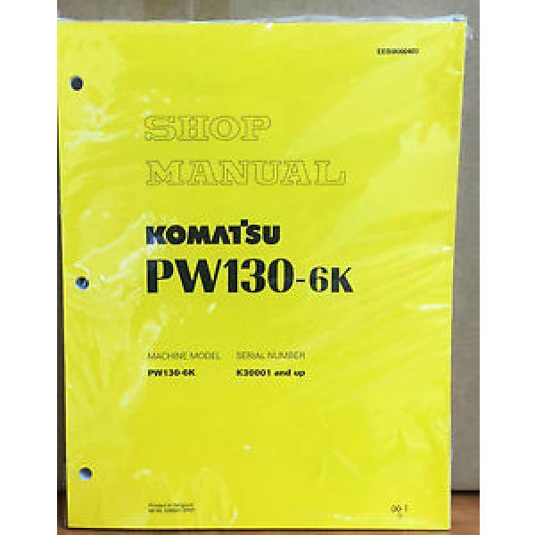 Komatsu Service PW130-6K Excavator Shop Manual NEW REPAIR #1 image