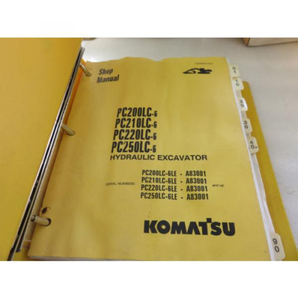 Komatsu PC200LC-6 PC210LC-6 PC220LC-6 PC250LC-6 Excavator Service Shop Manual #4 image