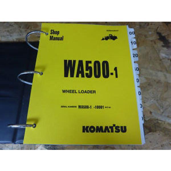 Komatsu WA500-1 Wheel Loader Shop Service Manual #1 image