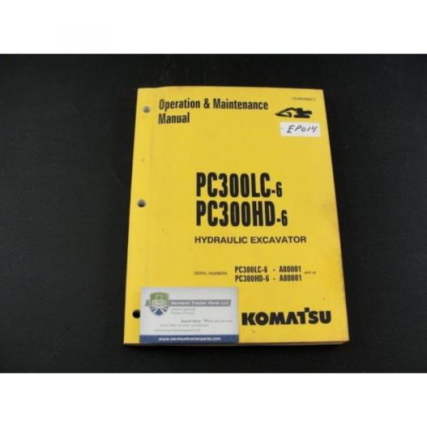 Komatsu excavator operators owner users manual PC300LC-6 PC300HD-6 CEAM3006C1 #1 image