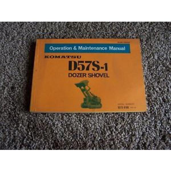 Komatsu D57S-1 Dozer Shovel D57S-8188- Owner Owner's Operation Manual #1 image