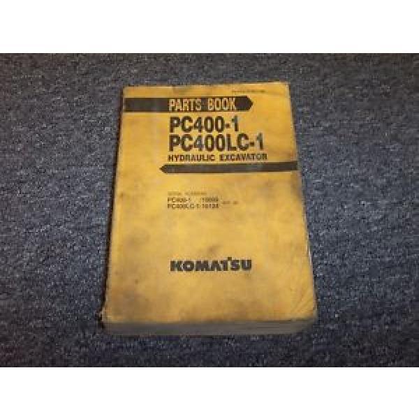 Komatsu PC400-1 PC400LC-1 Hydraulic Excavator Original Parts Catalog Manual Book #1 image