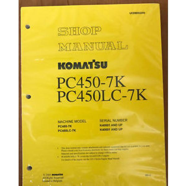 Komatsu  Hydraulic Excavator PC450-7K PC450LC -7K SHOP MANUAL Service Repair #1 image