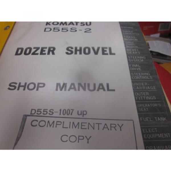 Komatsu D55S-2 Dozer Shovel Repair Shop Manual #2 image