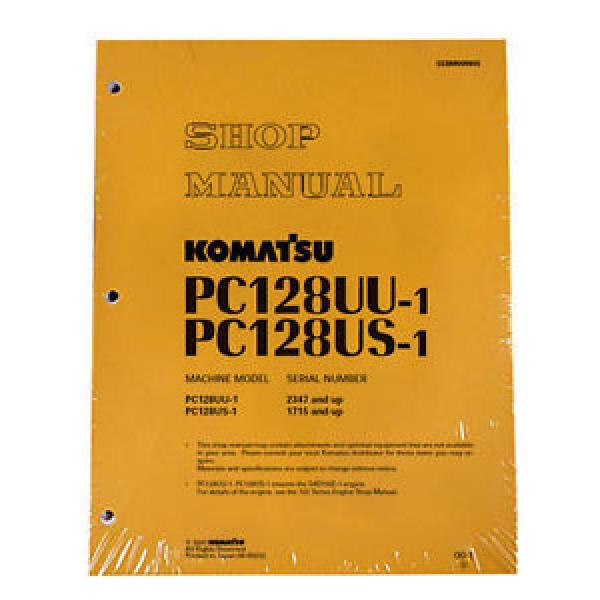 Komatsu Service PC128US-1, PC128UU-1 Shop Manual Book #1 image