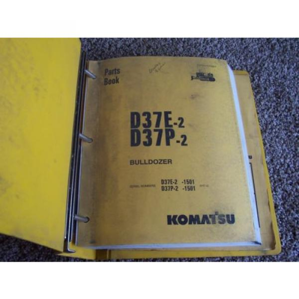 Komatsu D37E-2 D37P-2 1501- Bulldozer Dozer Factory Parts Catalog Manual Manual #1 image