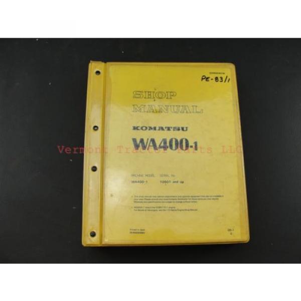 Komatsu WA400-1 wheel Loader service shop repair manual SEBM04240106 #1 image