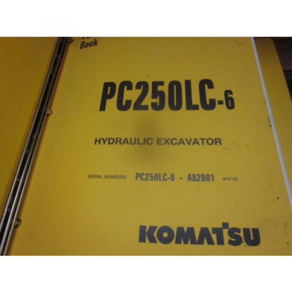 Komatsu PC250LC-6 Hydraulic Excavator Parts Book Manual #1 image
