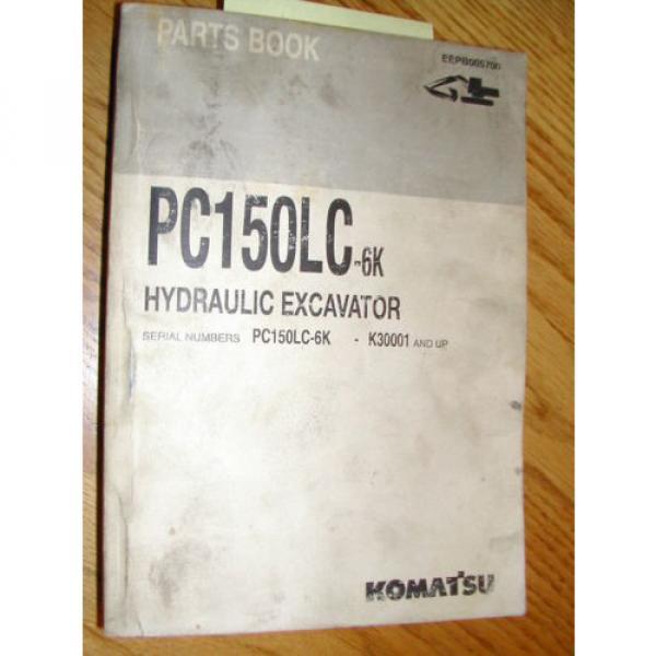 Komatsu PC150LC-6K PARTS MANUAL BOOK CATALOG HYD EXCAVATOR GUIDE BOOK EEPB005700 #1 image
