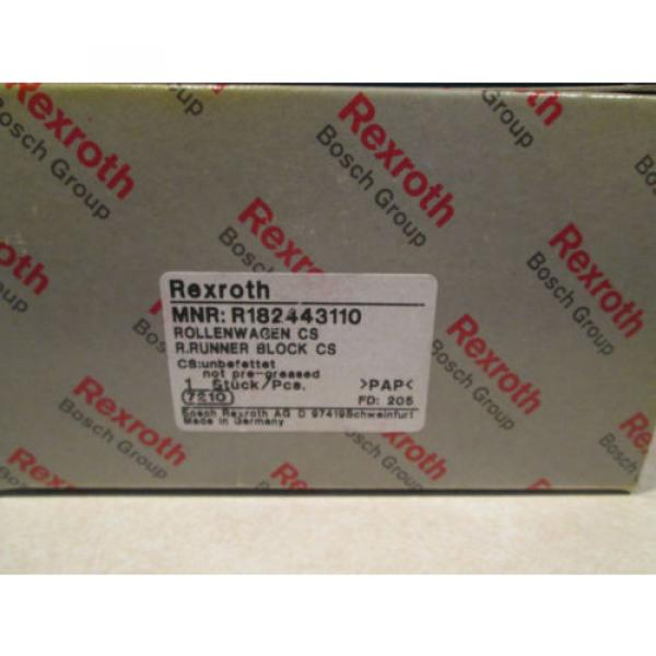REXROTH Singapore Germany LINEAR SLIDE BEARING R182443110 ROLLENWAGEN R.RUNNER BLOCK CS #1 image