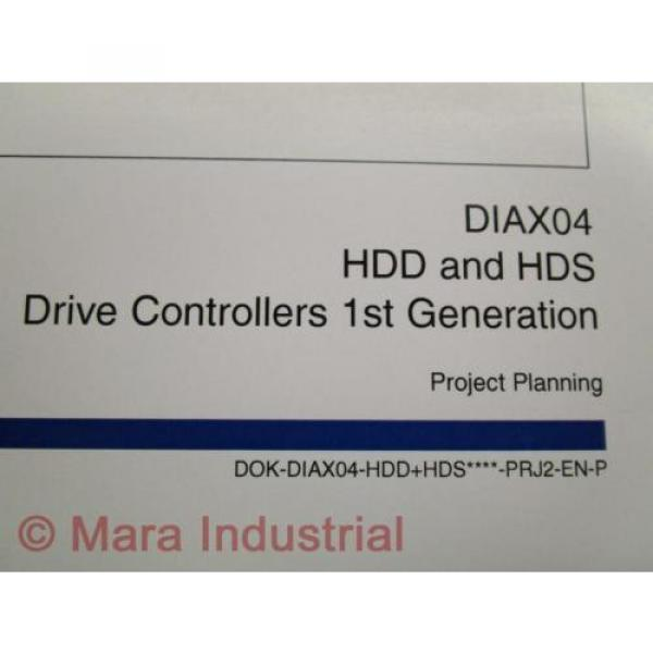 Rexroth China France Indramat DOK-DIAX04-HDD+HDS Project Planning Manual (Pack of 6) #3 image