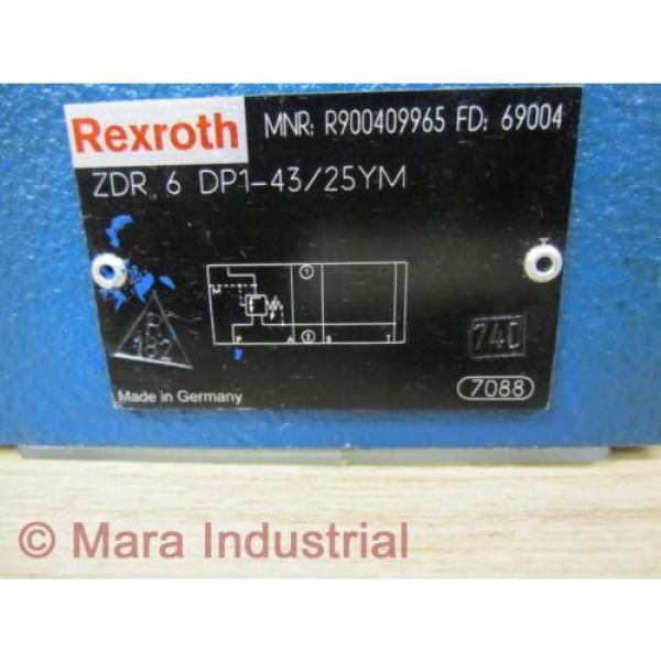Rexroth Italy Australia Bosch R900409965 Valve ZDR 6 DP1-43/25YM - New No Box #2 image