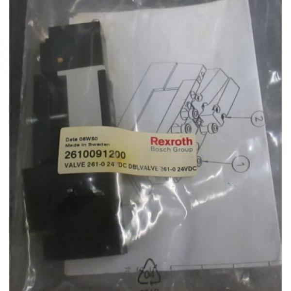 NEW Dutch Egypt  UNUSED REXROTH BOSCH Group 261-009-120-0 PNEUMATIC Double VALVE 24VDC #1 image