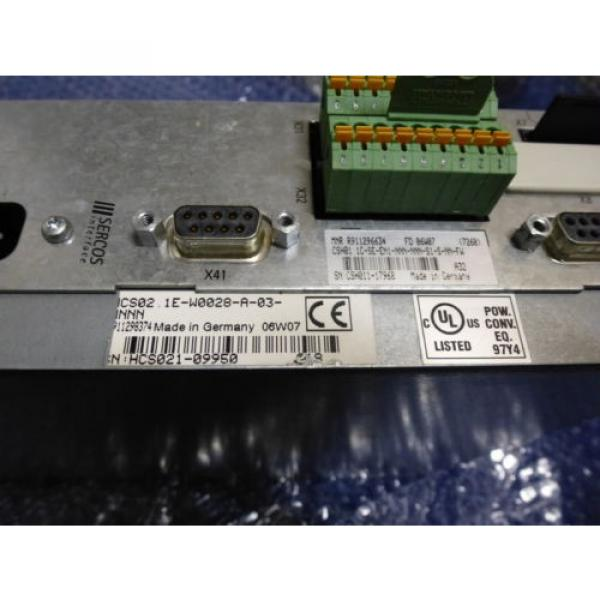 Bosch Canada France Rexroth Indramat HCS02.1E-W0028 mit Speicherkarte #4 image