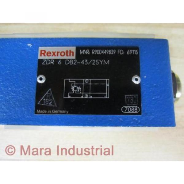 Rexroth USA India Bosch R900449839 Valve ZDR 6 DB2-43/25YM - New No Box #2 image