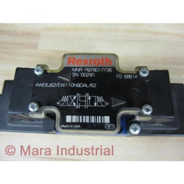 Rexroth Greece Singapore Bosch R978017736 Valve 4WE6J62/EW110N9DAL/62 - New No Box #2 image