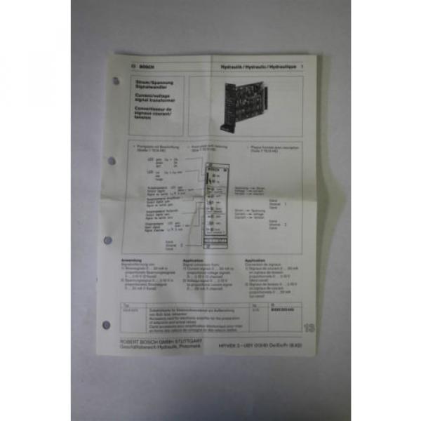 Rexroth Dutch Italy B 830 303 440 I/U2-U/I 1  Current/Voltage Signal Transformer #4 image