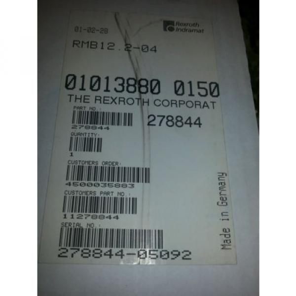 Indramat Egypt Korea Rexroth Interbus S RMB12.2-04  part number 278844 #2 image