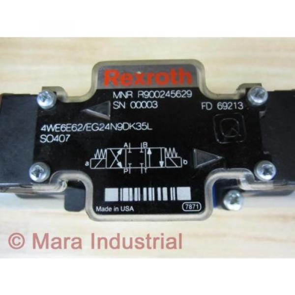 Rexroth Italy France Bosch R900245629 Valve 4WE6E62/EG24N9DK35L SO407 - New No Box #2 image
